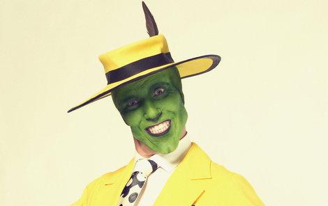Maska: Na Vladimíru Polívkovi maskéři pracovali tři hodiny. Podoba s Jimem Carreym z filmu Maska je nasnadě.