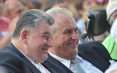 Kardinál Duka a prezident Zeman