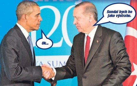 Americký prezident Obama a turecký prezident Erdogan se setkali v listopadu v rámci schůzky G20. Zde mohli upéci svůj tajný plán!