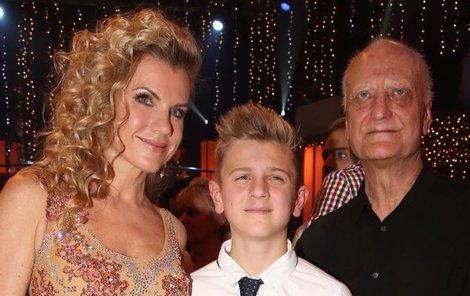 Šípek s matkou svého syna Artura Leonou Machálkovou.