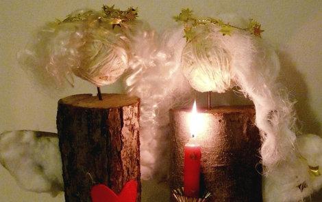 Vyrobte si netradičního andílka do bytu.