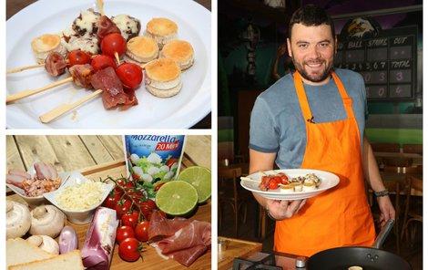 Šéfkuchař Michal připravil silvestrovské jednohubky.