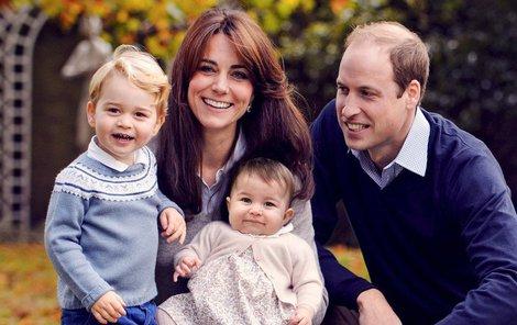 Kate a její krásná rodinka. Britskému trůnu porodila dva dědice.
