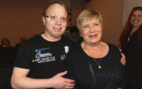 Jaroslava Obermaierová a její syn Jára.