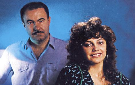 Petr Hannig s Lucií Bílou, tehdy ještě Hankou Zaňákovou (1986).