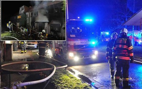 Při požáru rodinného domu v pražských Záběhlicích zemřela žena a dvouleté dítě, dalších 14 lidí z okolních domů bylo evakuováno.