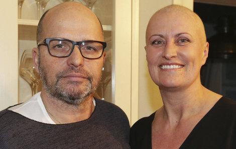 LEDEN 2015: Zdeňka přišla kvůli chemoterapii o vlasy