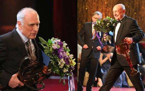 Ladislav Županič a Stanislav Zindulka převzali ocenění za své výkony.
