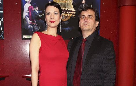 Kostková s Kracikem v době, kdy byli ještě spolu.