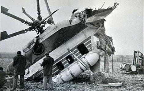 Vrtulník dopadl tzv. přímo na čumák.