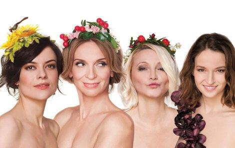 Stryková, Chýlková, Šišková, Kohoutová (zleva) jako velvyslankyně bohyně Afrodité.