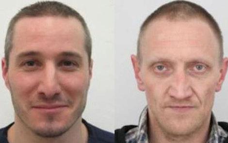 Uprchlí vězni Pavel Souček (vlevo) a Ondřej Heinsch.