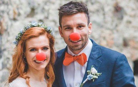 Červenými nosy propagovali nadaci Konto Bariéry.