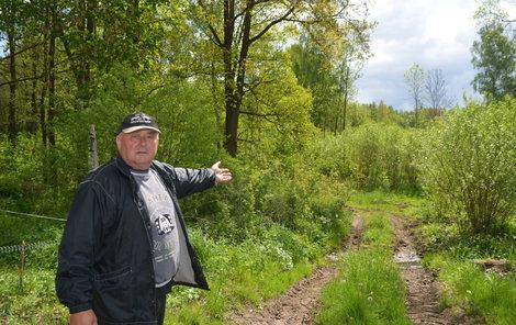 Tento pozemek chtěl Pavel Hruštinec koupit.