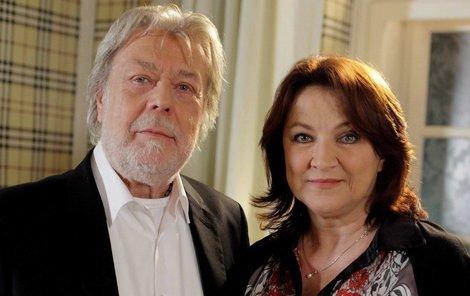 Zlata Adamovská s hereckým kolegou Janem Kanyzou.