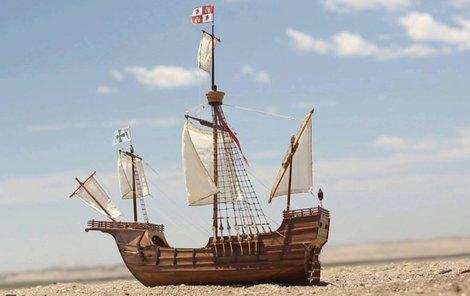 Tak nějak vypadala de Noronhova loď původně.