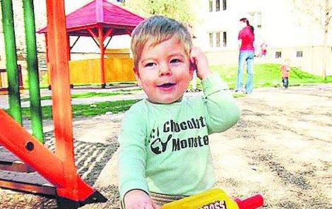 Matěj Kocian před operací, která proběhla 1. května 2010...