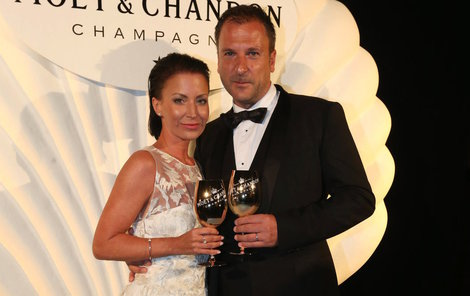 Gábina Partyšová s manželem