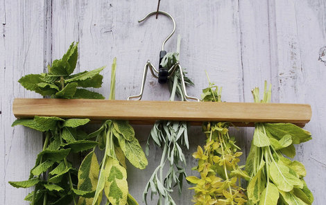 Na ramínku se vám bylinky usuší raz dva!
