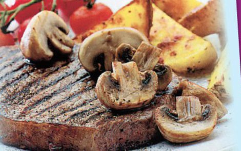 Steak propečte dle přání vašeho strávníka.