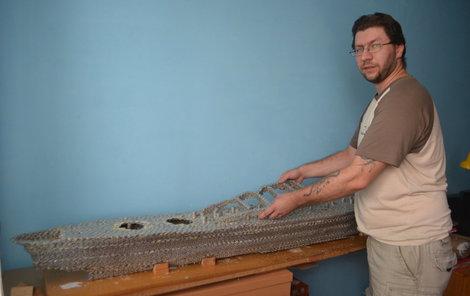 Marek Šátka staví svůj model od loňského září.