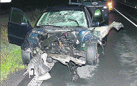 Takto dopadlo po nehodě BMW řízené Ukrajinkou (26).