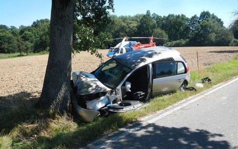 Z děsivé nehody vyvázla žena se zlomenou rukou.