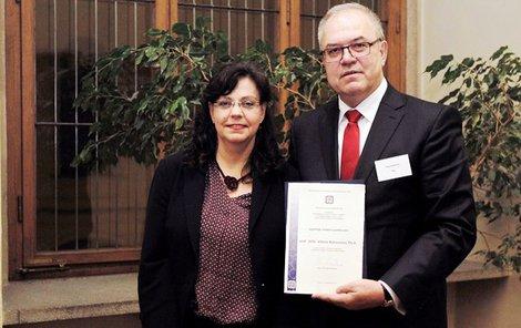Vilém Kahoun s ministryní Marksovou.