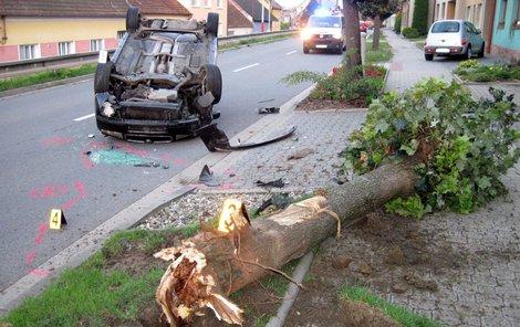 Řidič z místa nehody zmizel.