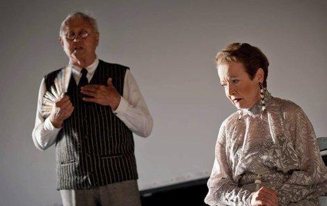S Jaroslavem Satoranským odehrála představení Ještěrka na slunci.