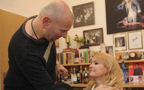 Ivo Špes se svou slavnou klientkou.