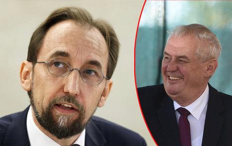 Zaíd Husajn se znovu drsně otřel o českého prezidenta.