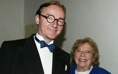 Libuše Havelková se synem Ondřejem