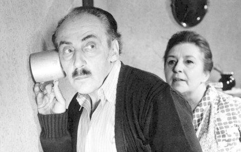 Stella Zázvorková si s manželem zahrála i ve filmu.