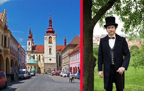 Žatecké náměstí v seriálu představuje centrum Karlových Varů.
