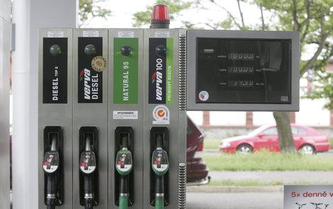 Ceny pohonných hmot jsou stále stejné.