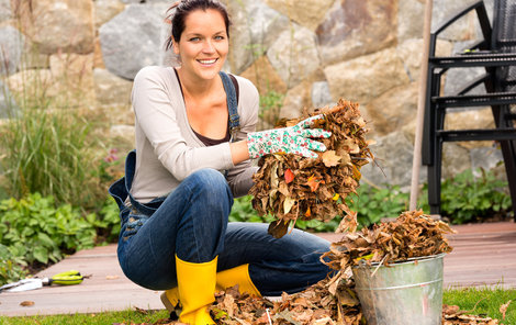 Shrabané listí nevyhazujte. Použijte ho jako hnojivo.