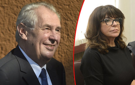 Miloš Zeman a Terezie Kaslová.