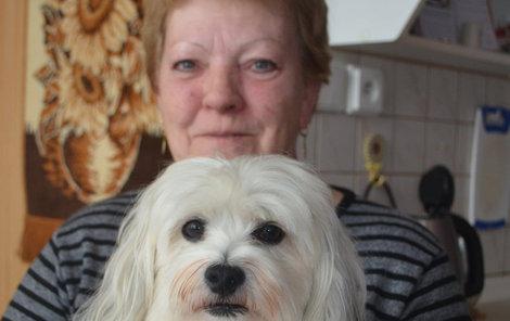 Pokousaný byl maltézáček Adámek i jeho majitelka Krystyna Juřenová.