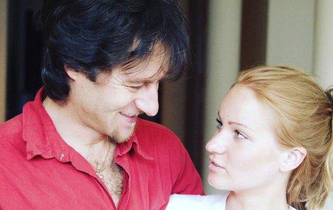 Paĺo s dcerou Zuzanou. Tu má z prvního manželství.