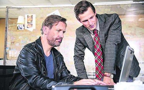 David Matásek se svým seriálovým parťákem Igorem Orozovičem.