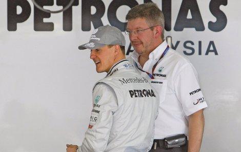 Schumacher a Brawn byli sehraní parťáci, kteří získali sedm titulů mistra světa.