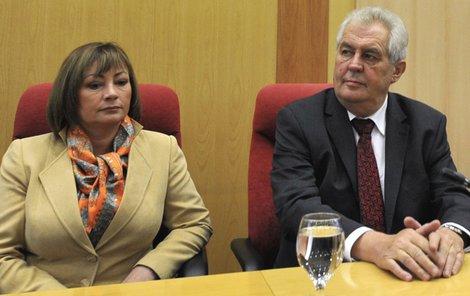 Miloš Zeman s Ivanou Zemanovou.