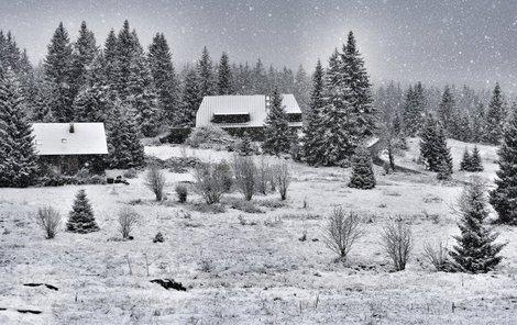Na Šumavě začala pravá ladovská zima.
