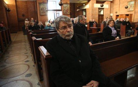 S Jaroslavem Holoubkem se přisel rozloučit i Radim Uzel.