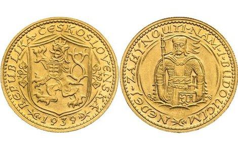 Svatováclavský dukát z roku 1939 je nyní nejdražší na světě.