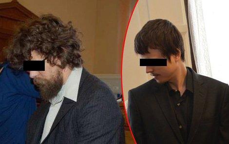 Vrah Radim Odehnal, odsouzený na doživotí a obžalovaný Radúz Š.