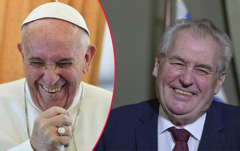 Papež František měl velkou prosbu...a prezident Zeman mu vyhověl.