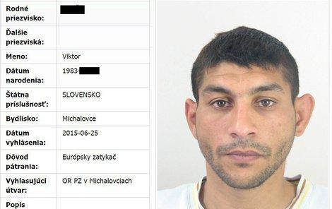 Na Slováka byl vydán evropský zatykač.