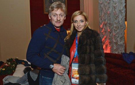Putinův mluvčí Peskov a jeho žena Taťjana.
